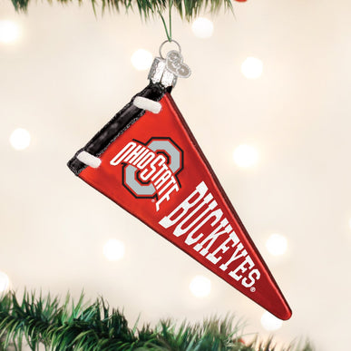 Ohio State Pennant Ornament