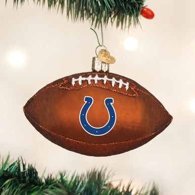 Indianapolis Colts Football Ornament