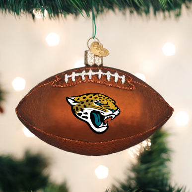 Jaguars Football Ornament