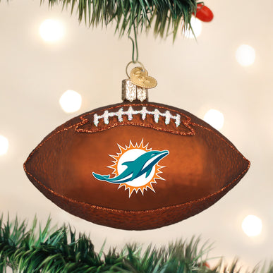 Miami Dolphins Football Ornament