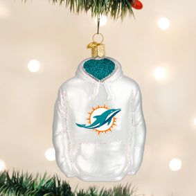 Miami Dolphins Hoodie Ornament