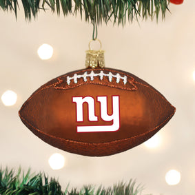 New York Giants Football Ornament