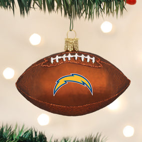 LA Chargers Football Ornament