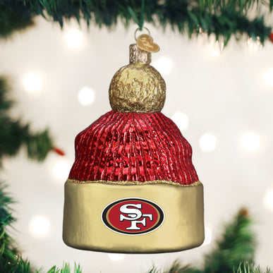 SF 49ers Beanie Ornament
