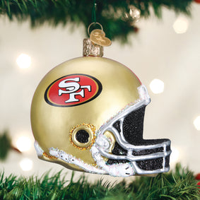 SF 49ers Helmet Ornament