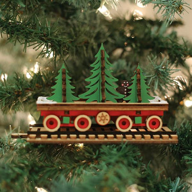 Santa's NP Express Flat Car-GC140