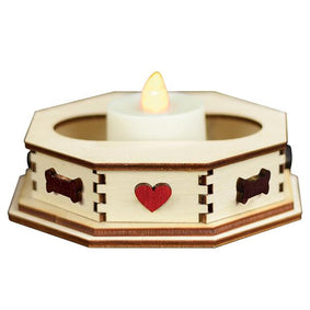 Tealight Display-Bone(Sm)-GCD105D