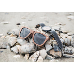 Walnut Wayfarer Sunglasses And Watch Set