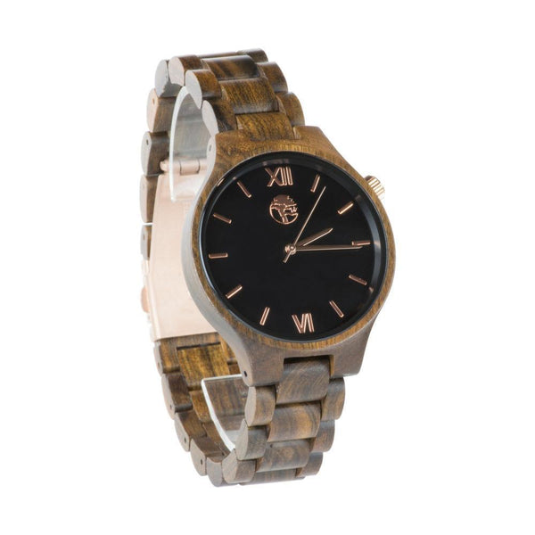 Rose Gold Watch Wooden Band