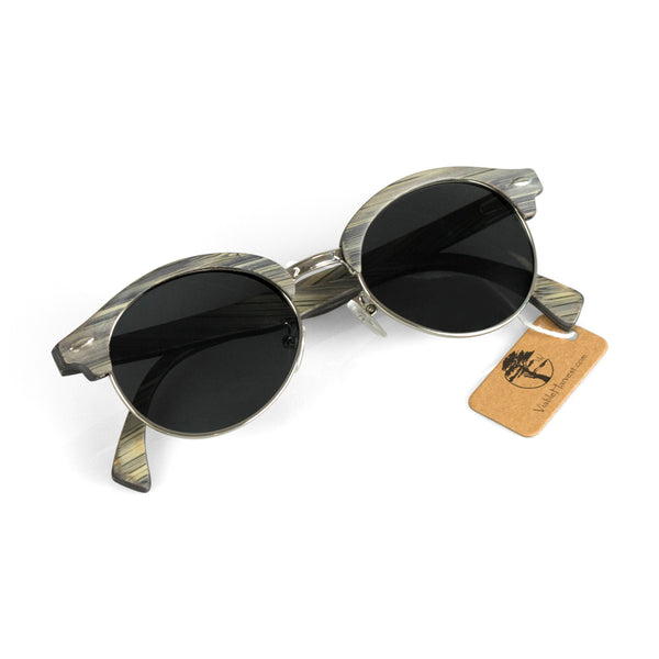 Women's Grey Bamboo Wood Sunglasses