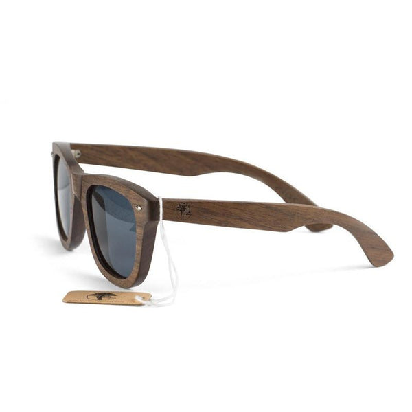 Real Walnut Wooden Sunglasses Wayfarer Design Polarized Lenses with Gift Box