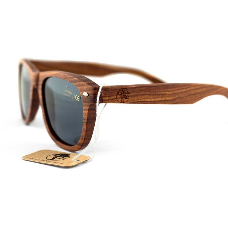 Real Solid Handmade Sandalwood Wooden Sunglasses for Men, Polarized Lenses with Gift Box