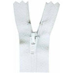"Closed End Zipper - White - 7""(18cm) - 0018501"