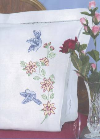 Birds Perle Edge Pillowcase - 1600-31