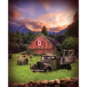 "Sun Up to Sun Down Digital panel - Dawn - Canadian Flag - 24777-112 - 33""(84cm)"