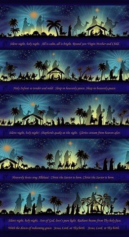 "Silent Night - Song Panel - Midnight - 2506PM-77 - 23.5""(60cm)"