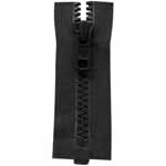"Activewear One Way Separating Zipper - Black - 30""(75cm) - 6475580"