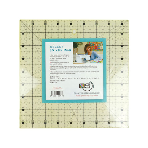 "Select Non Slip ruler - 8.5"" x 8.5"" - QS-RUL8.5N"