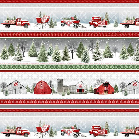 Holiday Heartland Scenic Strip - Red Grey - 9217-98