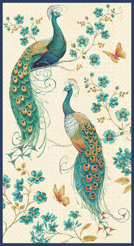 "Peacock Pavillion panel - Ivory - 9852P-41 - 24""(60cm)"