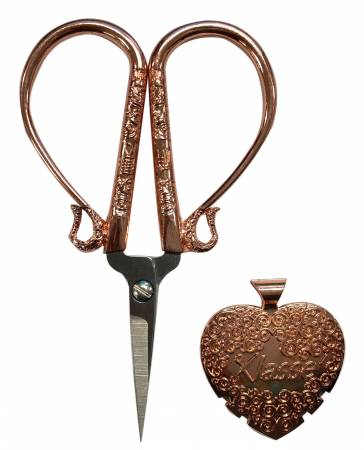 "4"" Embroidery Scissor and Thread Cutter Set - Rose Gold - B4722RG"
