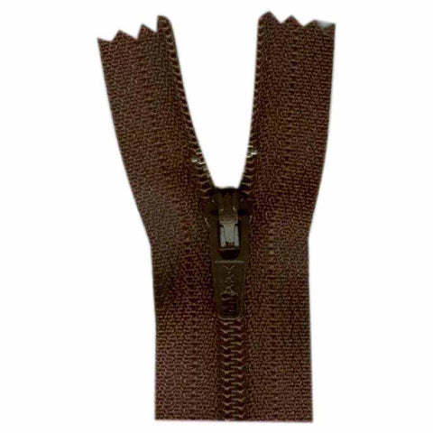 "23cm or 9"" - Closed End Zipper - September Brown - 0023570"
