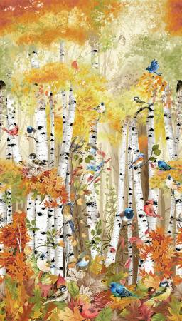 "Birch Song Panel - Multi - CD 74208 - 24"" (60cm)"