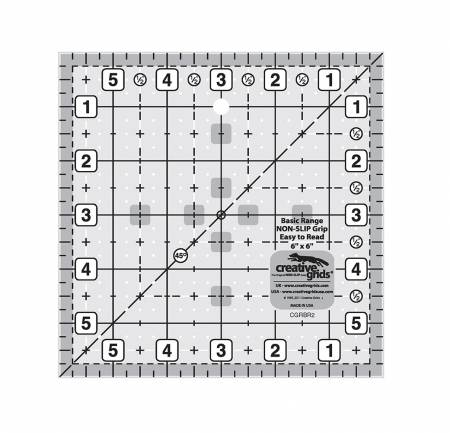 "Creative Grids Ruler - 6"" Square - CGRBR2"