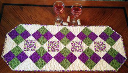 Fun Four Patch Table Runner pattern - CLPCLA006