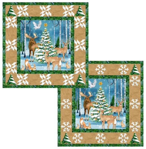 "Woodland Christmas Kit - 37"" x 37"""
