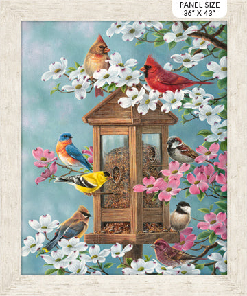 "Joys of Spring - Spring panel - Cream Multi - DP23005-11 - 36""(91cm)"