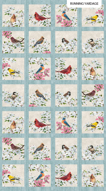 Joys of Spring - Spring Blocks - Cream Multi - DP23006-11 - 15cm rows