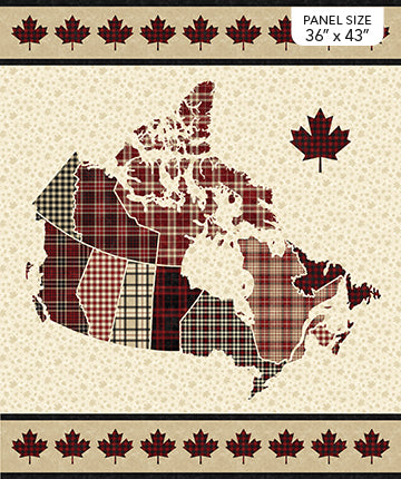 "Canadian Classics 2 Plaid panel - DP23124-11 - 36"" (91cm)"
