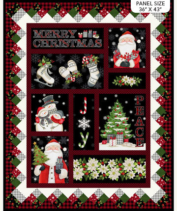 "Farmhouse Christmas panel - Black Multi - DP23493-99 - 36""(91cm)"