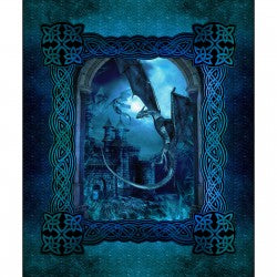 "Dragons - Blue Fury panel - 1DRG2 - 36""(91cm)"