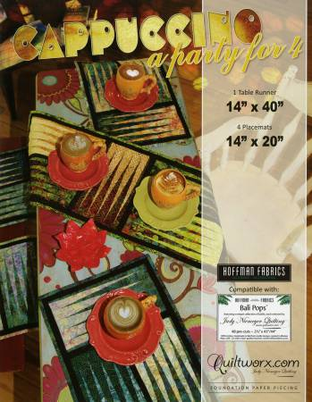 Cappuccino - A Party for 4  Tablerunner/Placemats JN