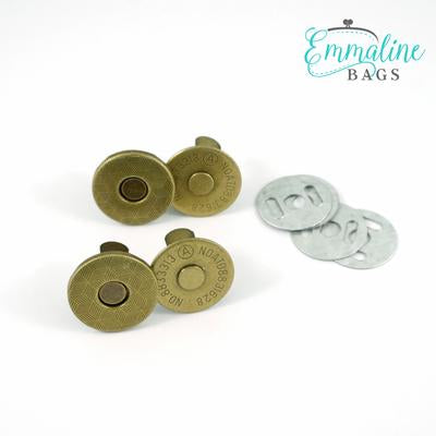 "Magnetic Snap Closure Slim - 3/4"" - Antique Brass - 2 pack"
