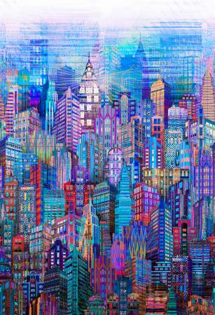 Blue Skylines - Digital print - N4235H-7 Blue