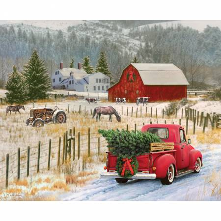 Christmas Memories panel - Country -  P8691 - 93cm 36""