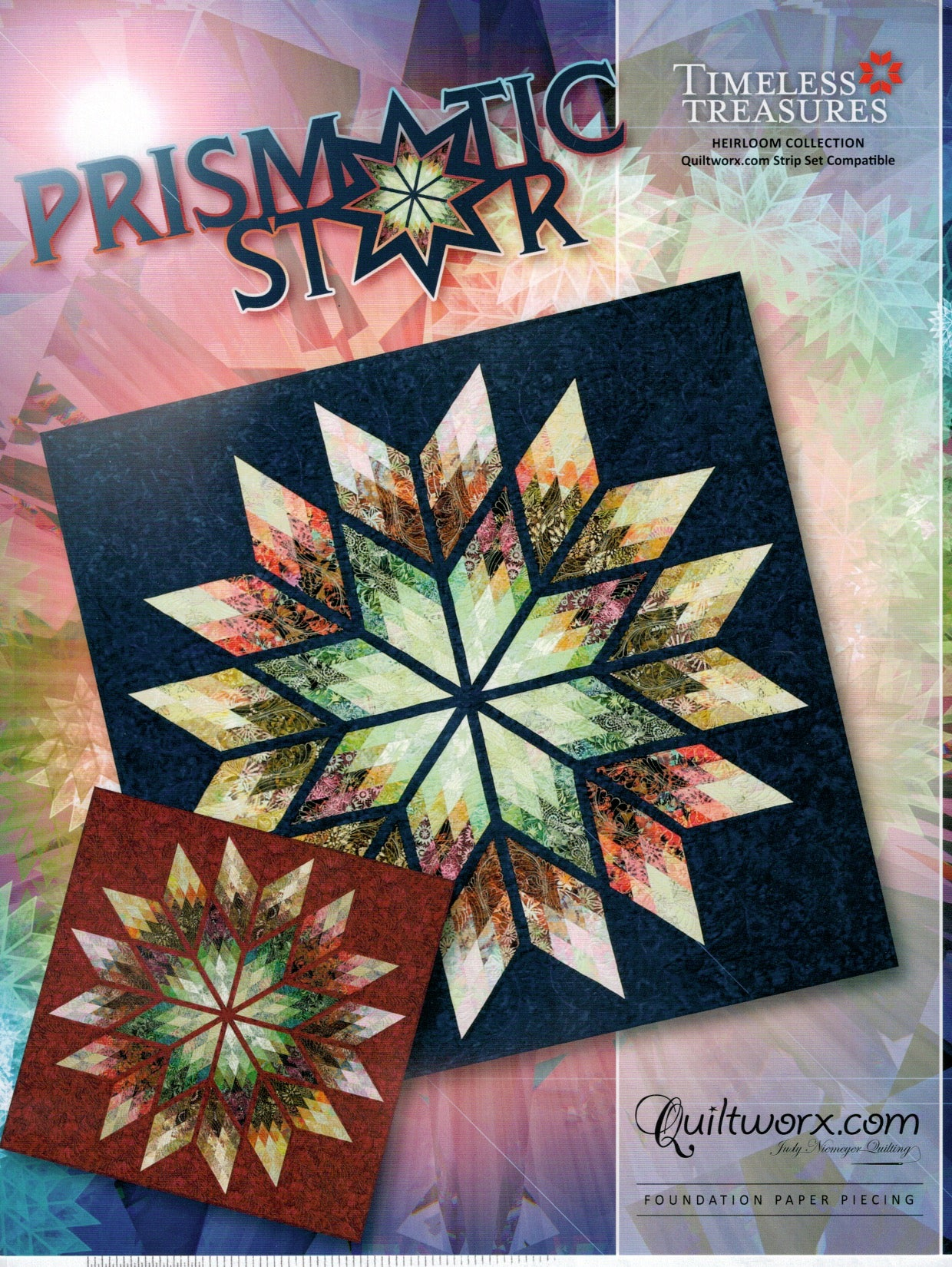 "Prismatic Star Pattern 64""x64"""