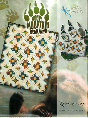 "Rocky Mountain Bear Claw Pattern 68""x84"""