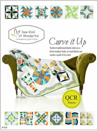 Curve it Up Block Pattern Booklet 408