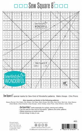 Sew Square 8 ruler - SKW95 - #95