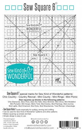 Sew Square 6 ruler - SKW96 - #96
