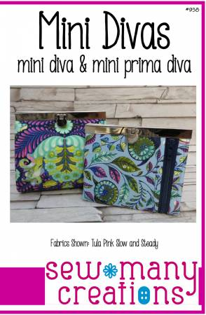 Mini Divas - Wallet, purse pattern - 938