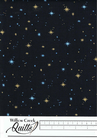Silent Night - Mini Stars - Midnight - 2514M-77