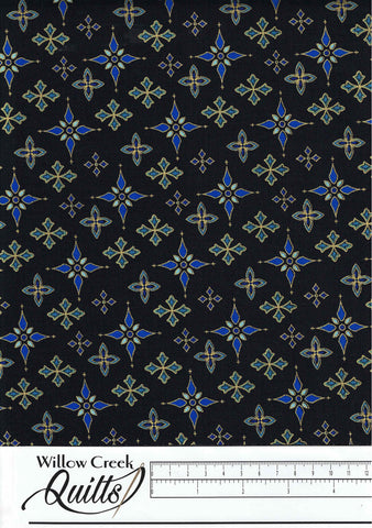 Silent Night - Foulard Stars - Midnight - 2509M-77