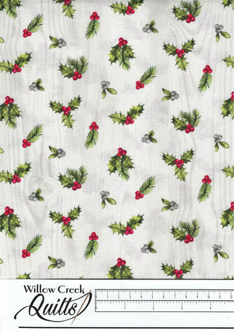 The Scarlet Feather - Mini Holly Toss - Pale Gray Multi - 23477-91