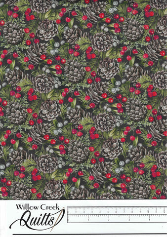 The Scarlet Feather - Pinecone Toss - Charcoal Multi - 23478-96