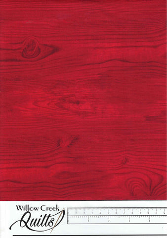 The Scarlet Feather - Wood Grain - Red - 23480-24